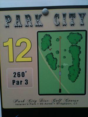 Veterans Memorial Park, Main course, Hole 12 Hole sign