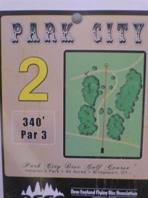 Veterans Memorial Park, Main course, Hole 2 Hole sign