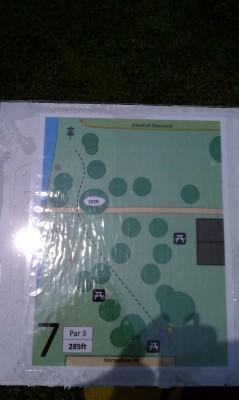 Taymouth Township Park, Main course, Hole 7 Hole sign