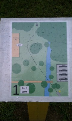 Taymouth Township Park, Main course, Hole 1 Hole sign