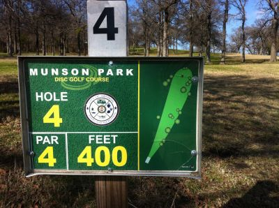 Munson Park, Main course, Hole 4 Hole sign