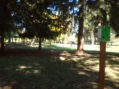 Wennerberg Park, Main course, Hole 9 Tee pad
