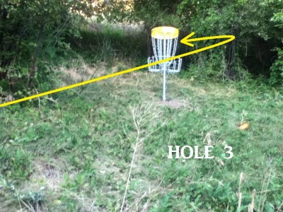 Von Baer Park, Blind Gully, Hole 3 Putt