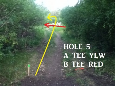 Von Baer Park, Blind Gully, Hole 5 Tee pad