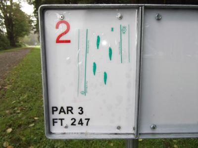 Nick Loutsis Park, Main course, Hole 2 Hole sign