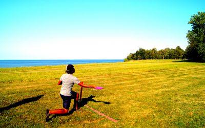 Lakeside Beach State Park, Shore Winds Blue, Hole 15 Short tee pad