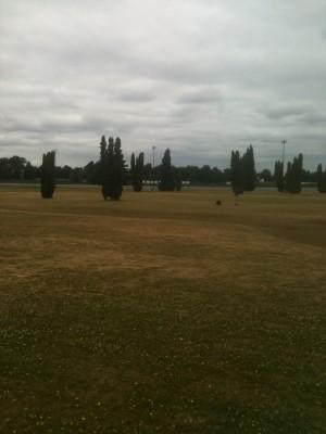 Portland Meadows, Main course, Hole 5 Tee pad