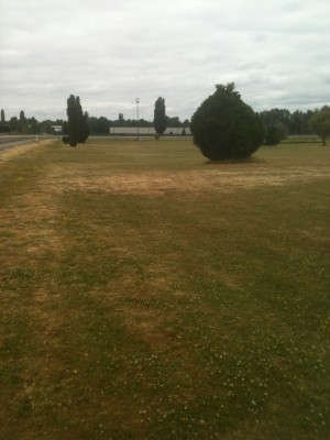 Portland Meadows, Main course, Hole 2 Tee pad