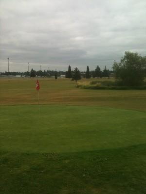 Portland Meadows, Main course, Hole 9 Putt