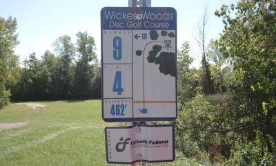 Wickes Woods, Main course, Hole 9 Long tee pad