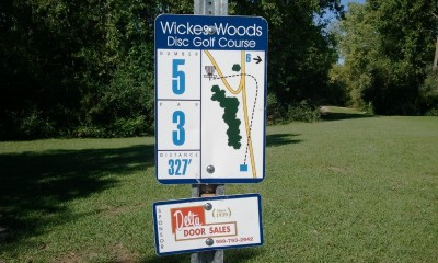 Wickes Woods, Main course, Hole 5 Long tee pad