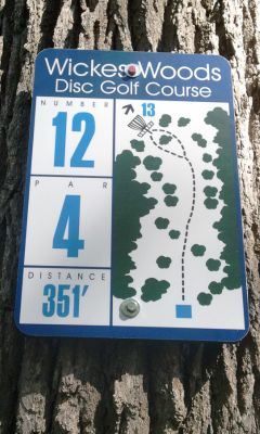 Wickes Woods, Main course, Hole 12 Long tee pad