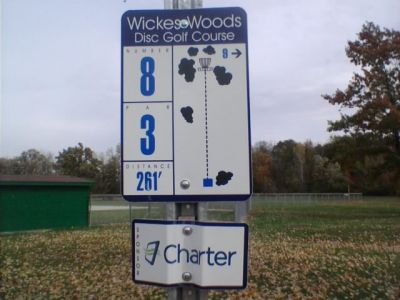 Wickes Woods, Main course, Hole 8 Hole sign