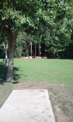 Wickes Woods, Main course, Hole 1 Tee pad