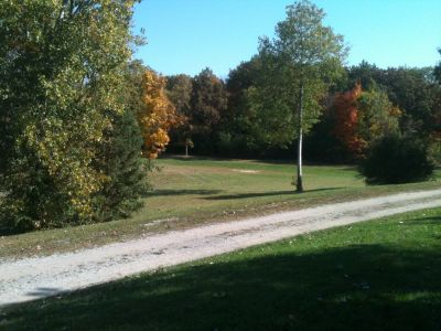 Wickes Woods, Main course, Hole 9 Tee pad