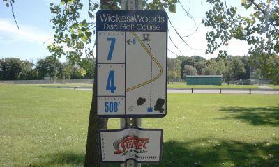 Wickes Woods, Main course, Hole 7 Long tee pad