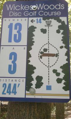 Wickes Woods, Main course, Hole 13 Long tee pad