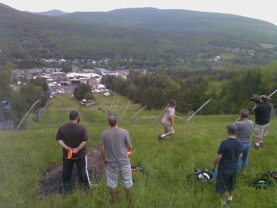 Hunter Mountain, Main course, Hole 9 Tee pad