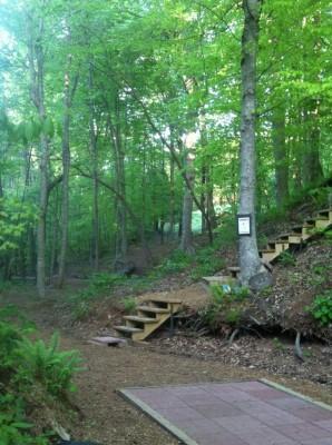 Brackett's Bluff, Main course, Hole 8 Tee pad