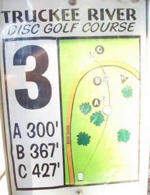 Truckee River Regional Park, Main course, Hole 3 Hole sign