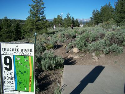 Truckee River Regional Park, Main course, Hole 9 Tee pad