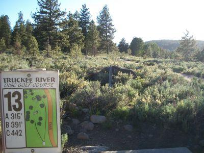 Truckee River Regional Park, Main course, Hole 13 Tee pad