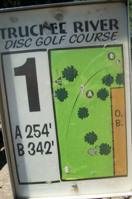 Truckee River Regional Park, Main course, Hole 1 Hole sign