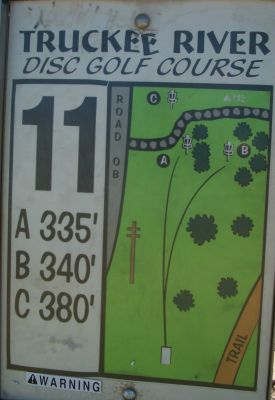 Truckee River Regional Park, Main course, Hole 11 Hole sign