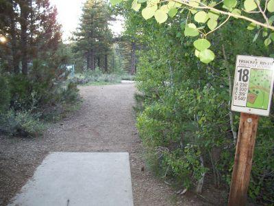 Truckee River Regional Park, Main course, Hole 18 Tee pad