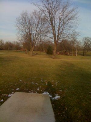 Indian Oaks, Main course, Hole 1