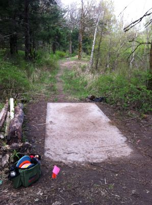 Cascade Locks Marine Park, Main course, Hole 6 Tee pad