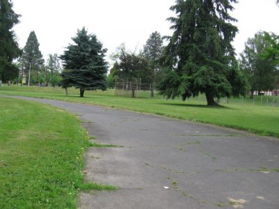 Oregon State Hospital, State Hospital Tone Course, Hole 6 Tee pad
