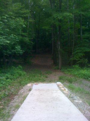 Rollin Ridge, Main course, Hole 16 Long tee pad