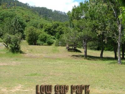 Low Gap Park, Main course, Hole 1 Tee pad
