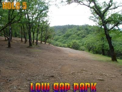 Low Gap Park, Main course, Hole 5 Tee pad