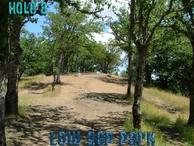 Low Gap Park, Main course, Hole 8 Tee pad