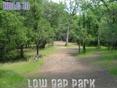 Low Gap Park, Main course, Hole 10 Tee pad
