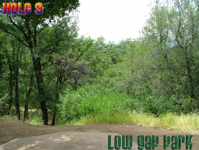 Low Gap Park, Main course, Hole 9 Tee pad