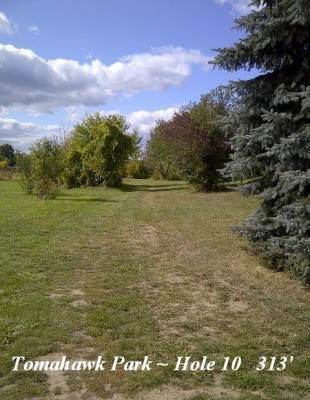 Tomahawk Park, Main course, Hole 10 Long tee pad