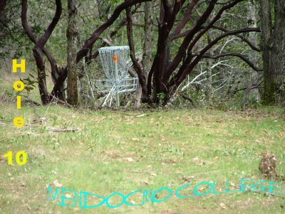 Mendocino College, Main course, Hole 10 Short approach