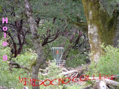 Mendocino College, Main course, Hole 9 Putt