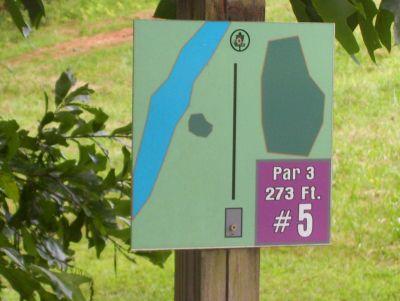 Sertoma Field, Main course, Hole 5 Hole sign