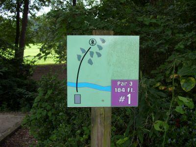 Sertoma Field, Main course, Hole 1 Hole sign