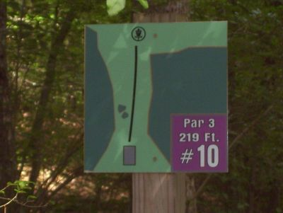 Sertoma Field, Main course, Hole 10 Hole sign