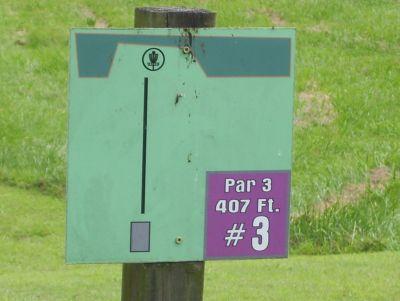 Sertoma Field, Main course, Hole 3 Hole sign