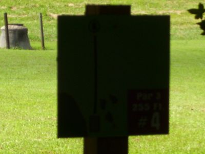 Sertoma Field, Main course, Hole 4 Hole sign