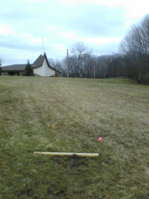 Lakeview Church, Main course, Hole 4 Short tee pad