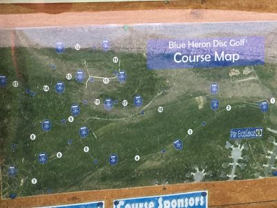 Blue Heron Park and Wetlands, Main course, Hole 1 Hole sign
