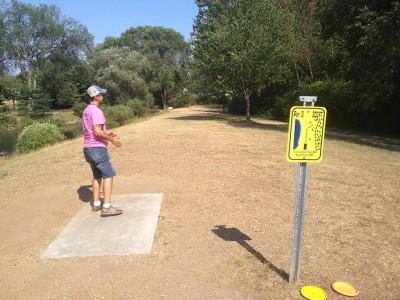 Heritage Park, Main course, Hole 2 Tee pad
