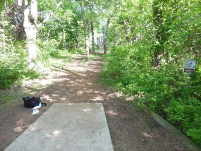 Kenneth L. King Park, Main course, Hole 17 Tee pad